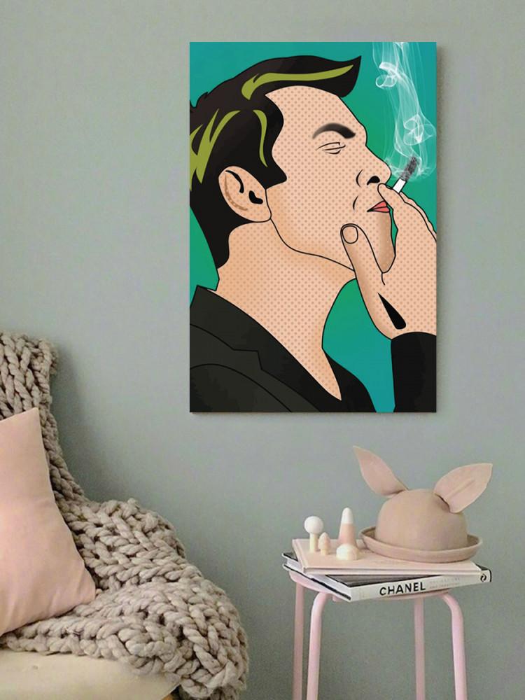 لوحة الرجل المدخن خشب ام دي اف مقاس 40x60 سنتيمتر