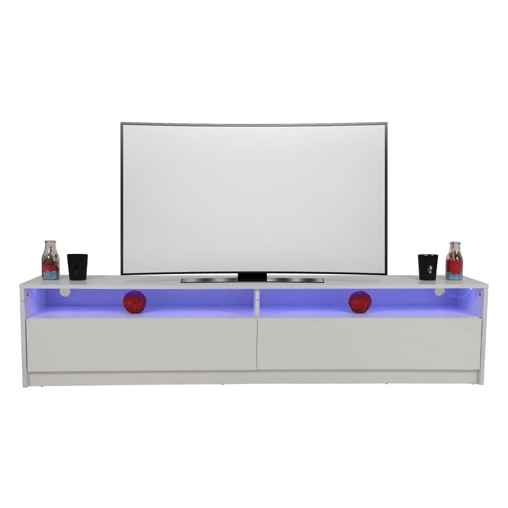 مواسم للأثاث المنزلي يقدم أفخم طاولة تلفاز عصرية من الخشب ليد بيضاء