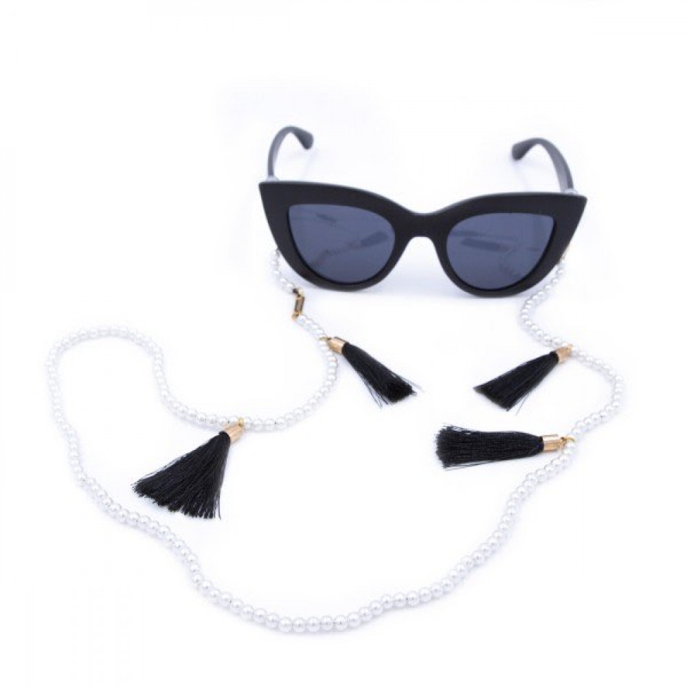 Iphoria Glasses Strap gold plated Black Love