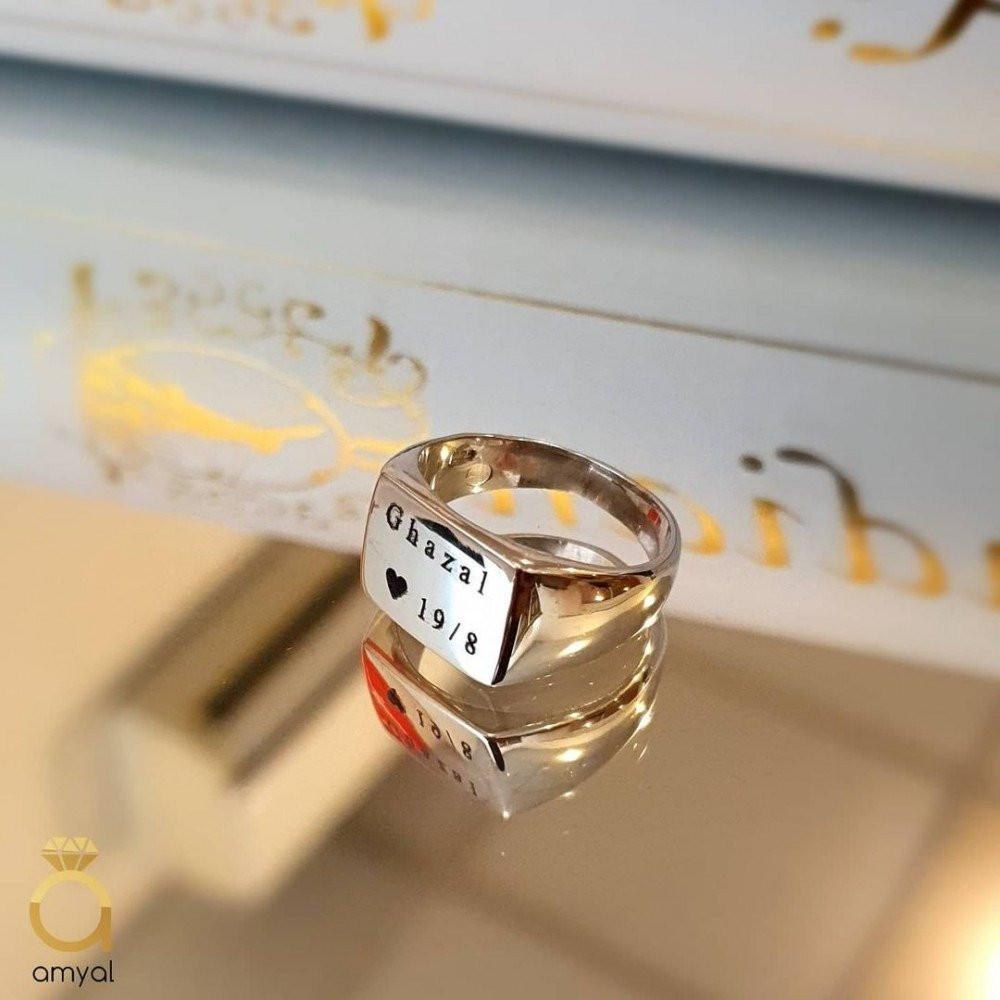 خاتم ملكي راقي من الفضة الخالصة بالكامل