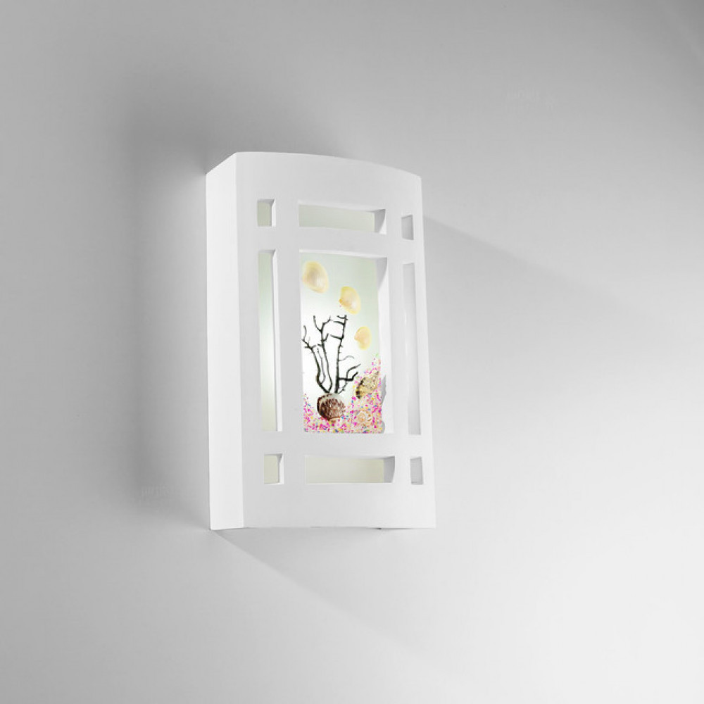 انارة جدارية مودرن جبس برسوم على شكل زهور - فانوس