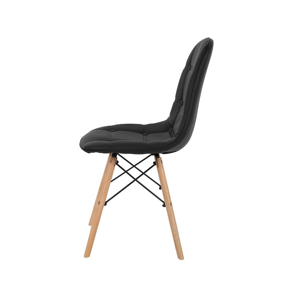 رؤية جانبية للكرسي الجميل في طقم كراسي ماركة نيت هوم الأسود من يوتريد