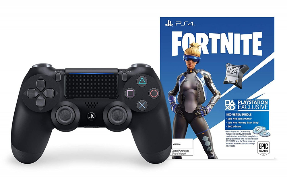 DualShock 4 Wireless Controller for PlayStation 4 - Fortnite Jet Blac