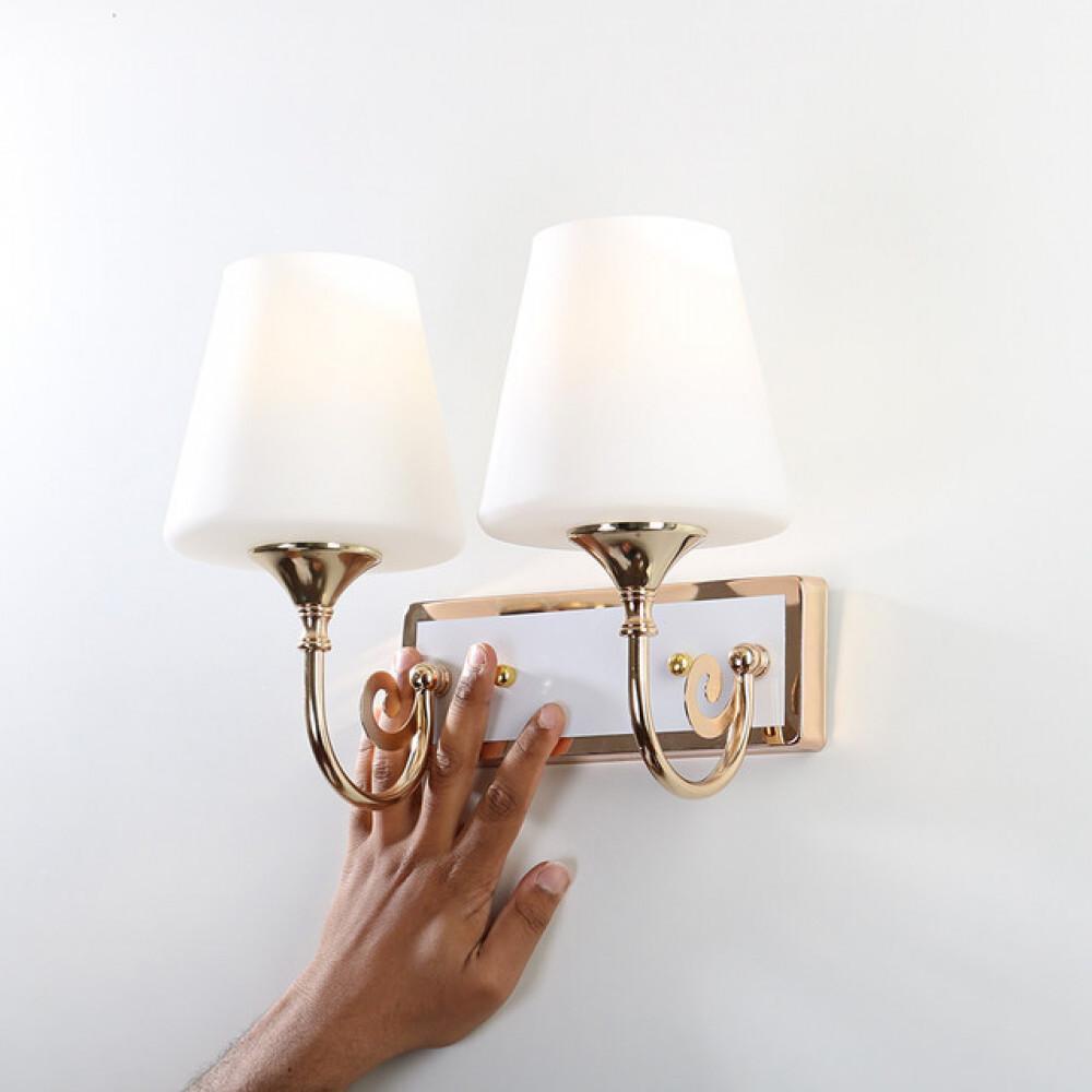 انارة جدار كلاسيكية داخلية ذهبي زجاج مجوز - فانوس