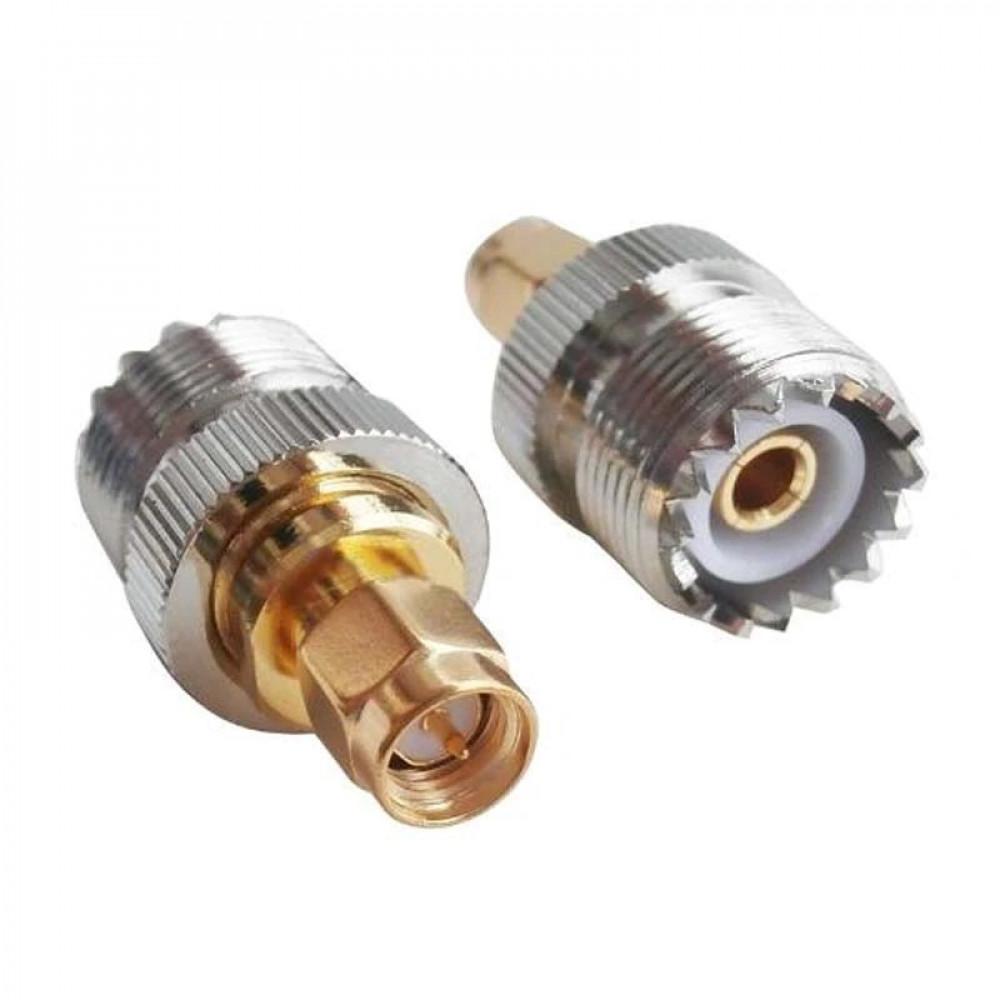 عدد 1 محول من SMA ذكر الى UHF أنثى للاستخدام مع الكيبل المحوري
