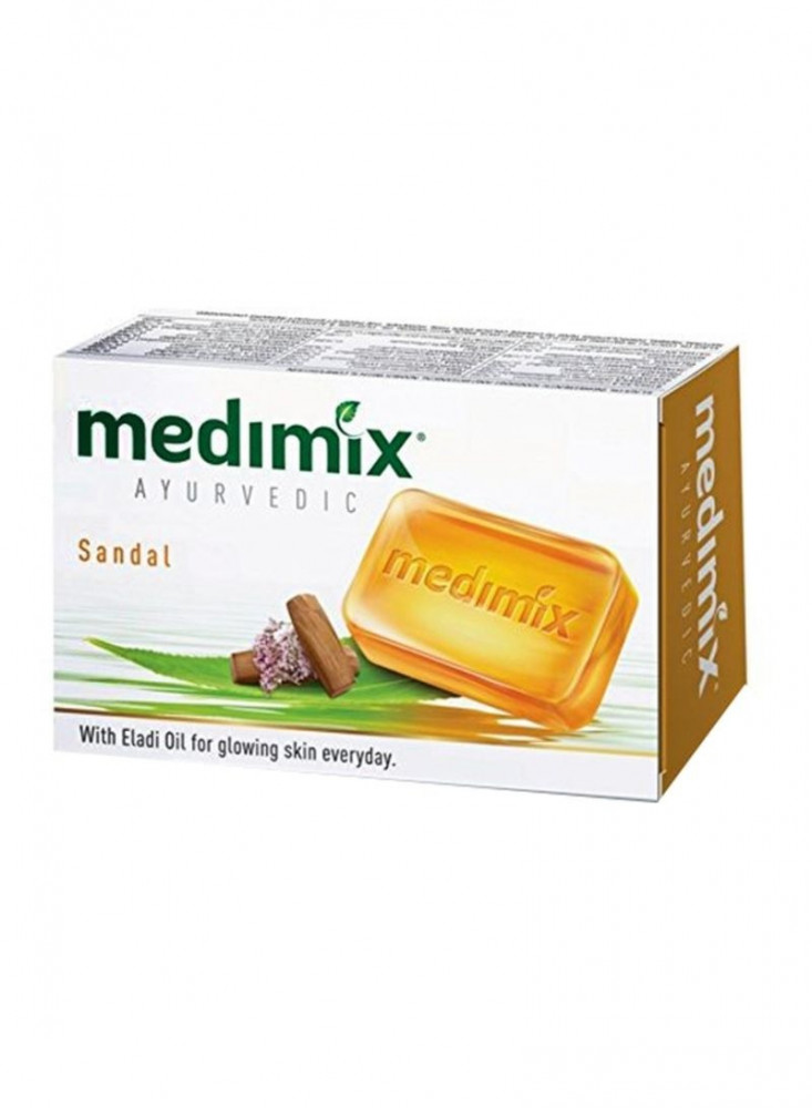 صابون ميديمكس الايورفيدا بالصندل اصفر 125 جم Medimix Ayurvedic Soap wi