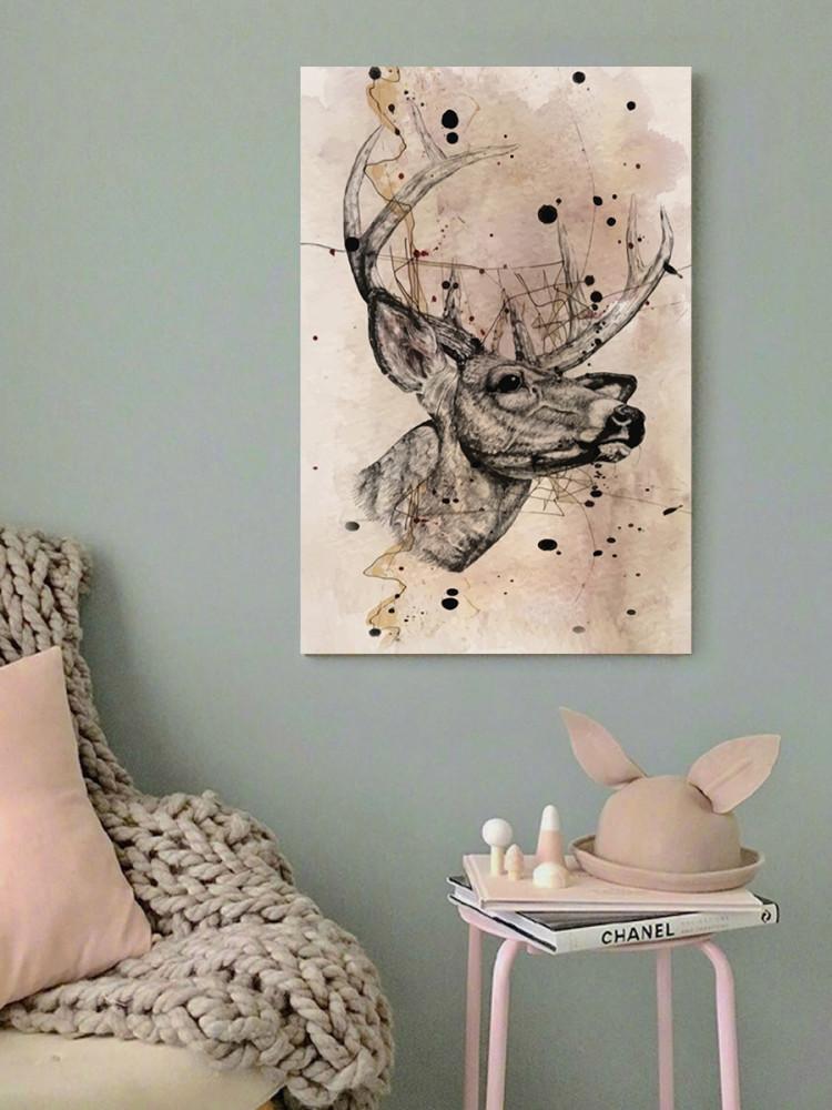 لوحة الغزال خشب ام دي اف مقاس 40x60 سنتيمتر