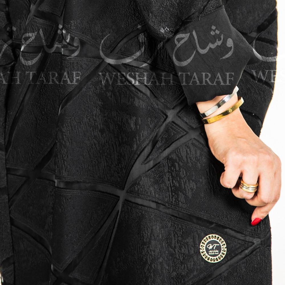 عباية قماش أورجانزا مع قماش حرير مغسول بالداخل لبس على جهتين