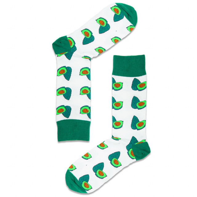 جوارب رجالية ونسائية  -شراريب مضحكة  - جورب الأفوكادو - Apogee socks
