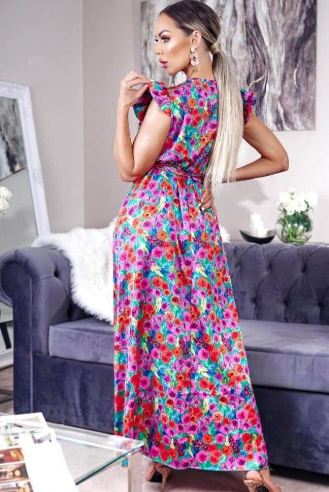 فستان ستان طويل
