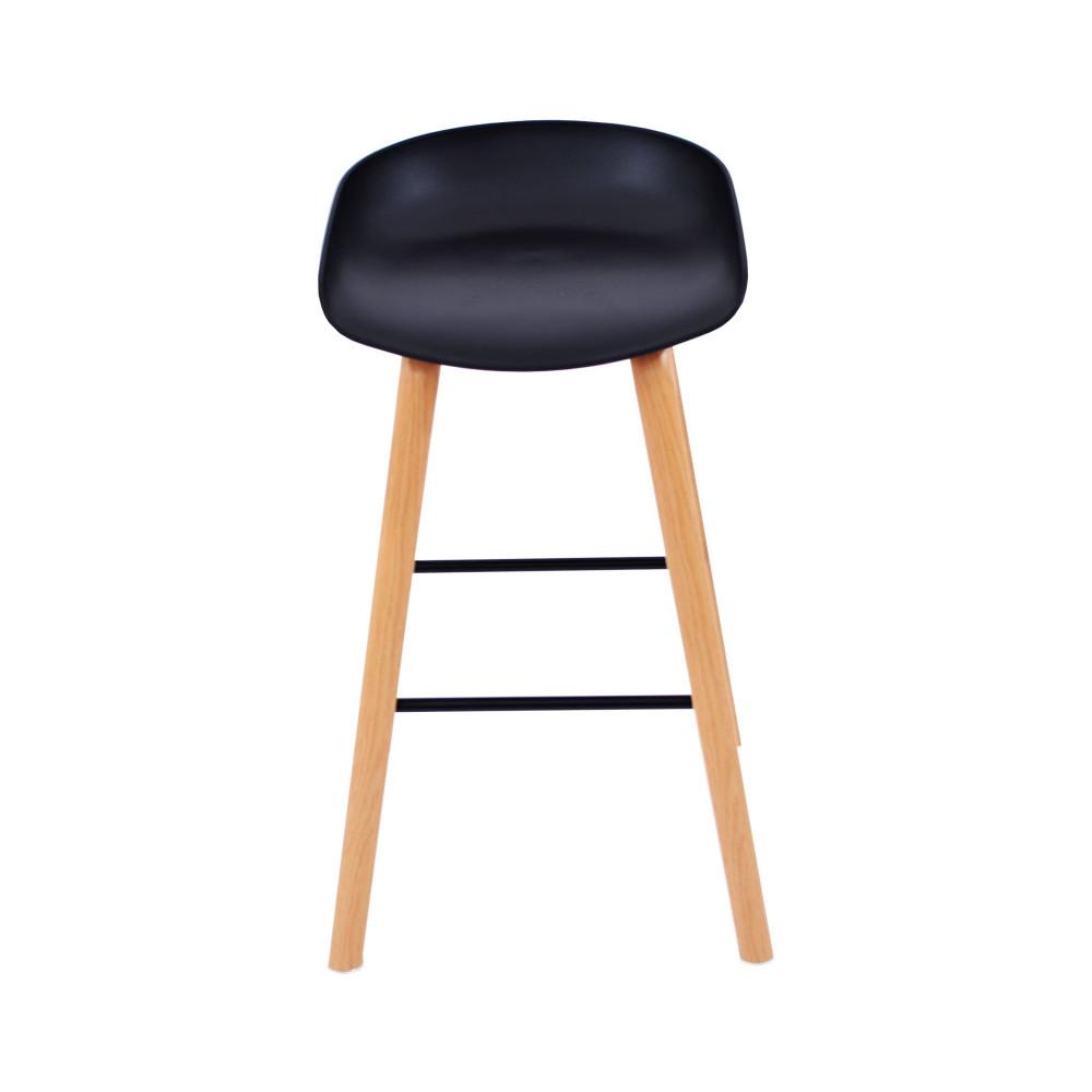 كرسي بار فيبر اسود من كاما C-696H-BLACK