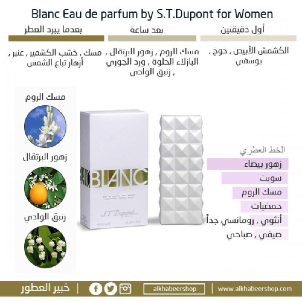 S T  Dupont Blanc Eau de Parfum متجر خبير العطور