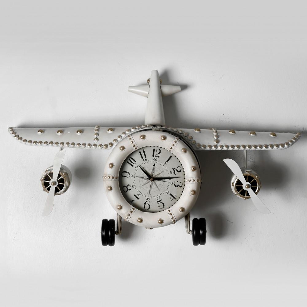 صور ساعة حائط أنتيكة موديل بلان فايف شكل طائرة صناعة معدنية فاخرة