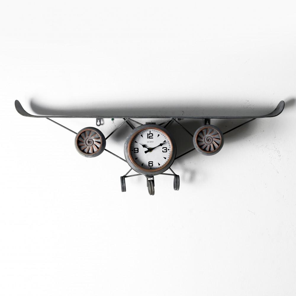 صور ساعة حائط أنتيكة موديل بلان ايت شكل طائرة صناعة معدنية الفاخرة