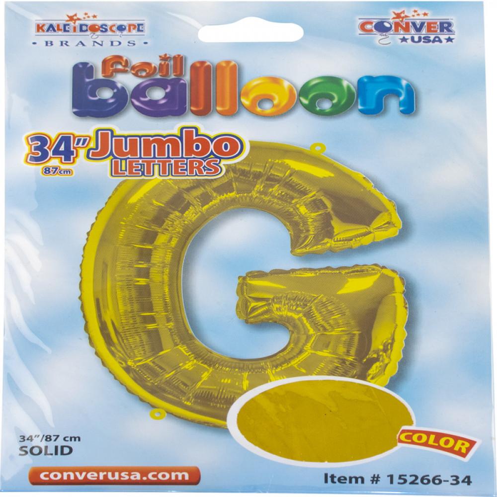بالون حرف G, بالون ذهبي, بلونات أحرف, Golden Balloon
