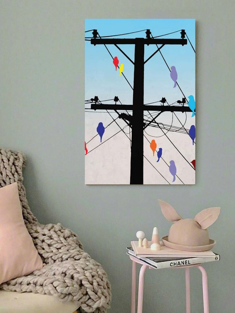 لوحة الطيور خشب ام دي اف مقاس 40x60 سنتيمتر