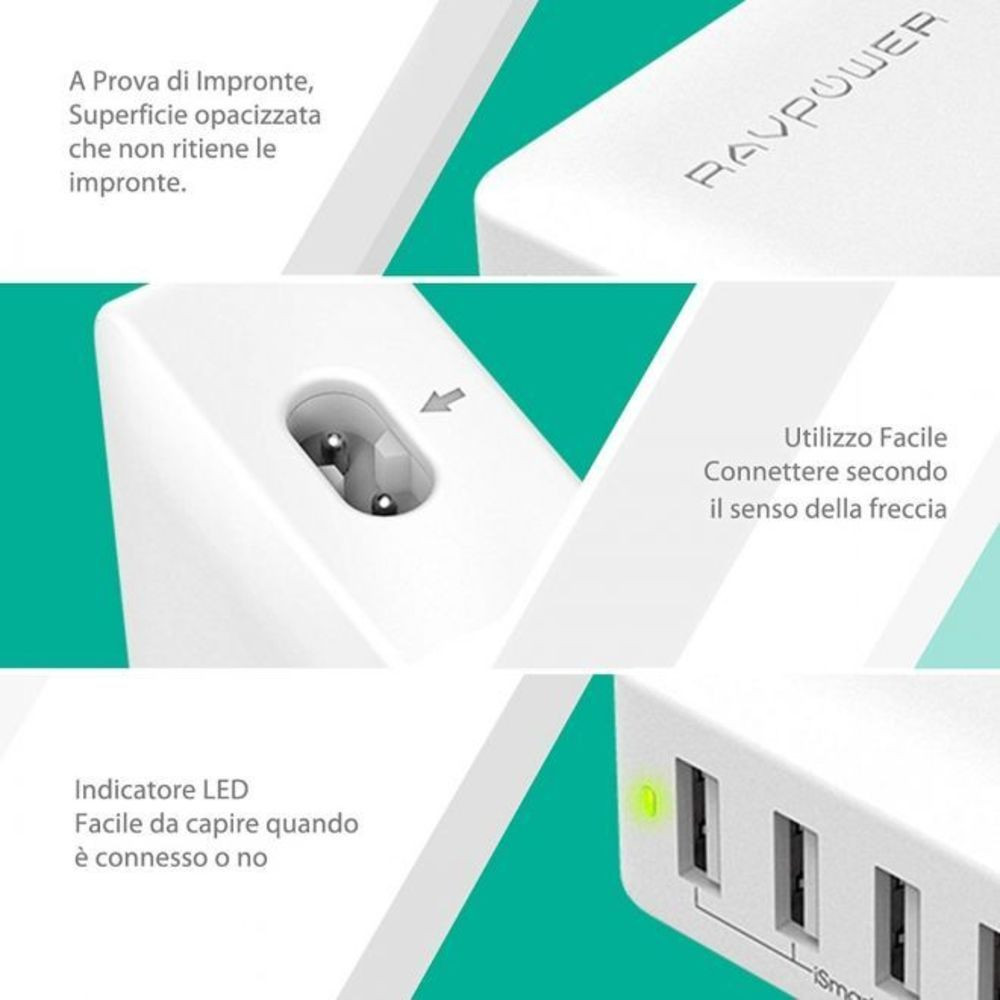 Wall Charger 40W 4 Ports RavPower