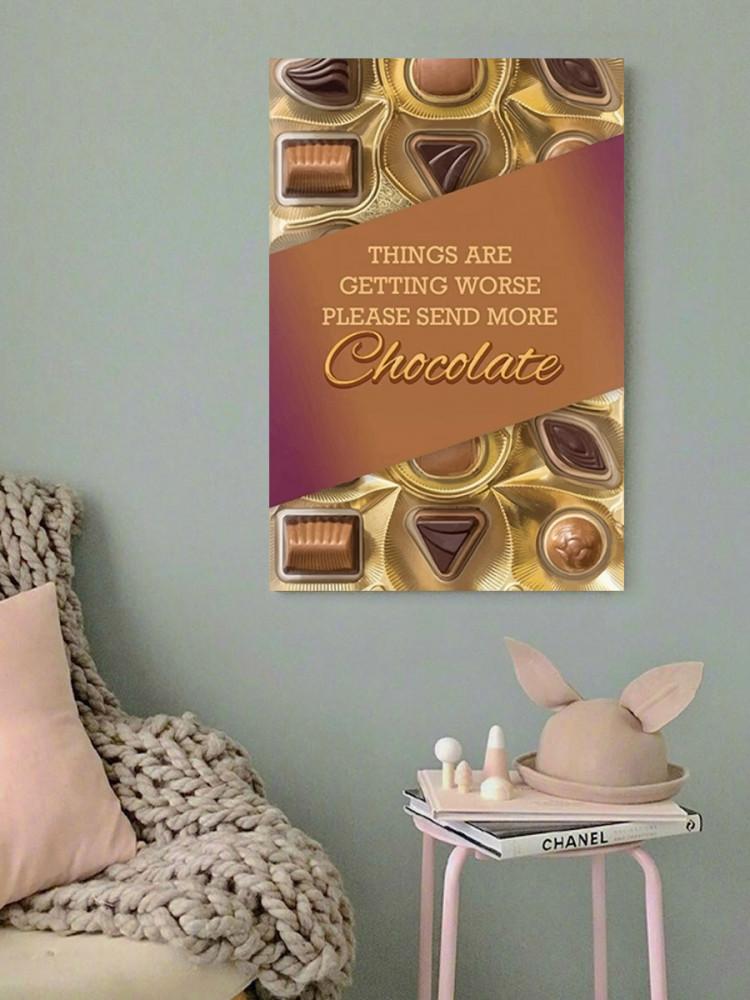 لوحة عشاق الشوكولاتة خشب ام دي اف مقاس 40x60 سنتيمتر