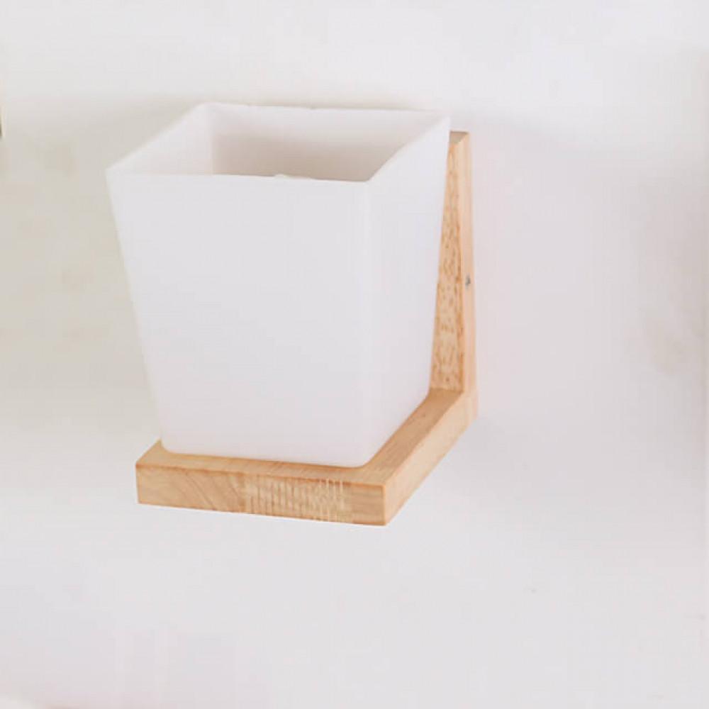 اضاءة حائط داخلية خشبي مفرد مكعب - فانوس