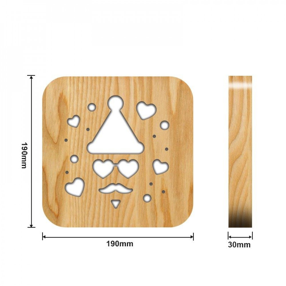 مواسم تحفة خشبية ثلاثية الأبعاد القياسات التفصيلية للقطعة الفنية