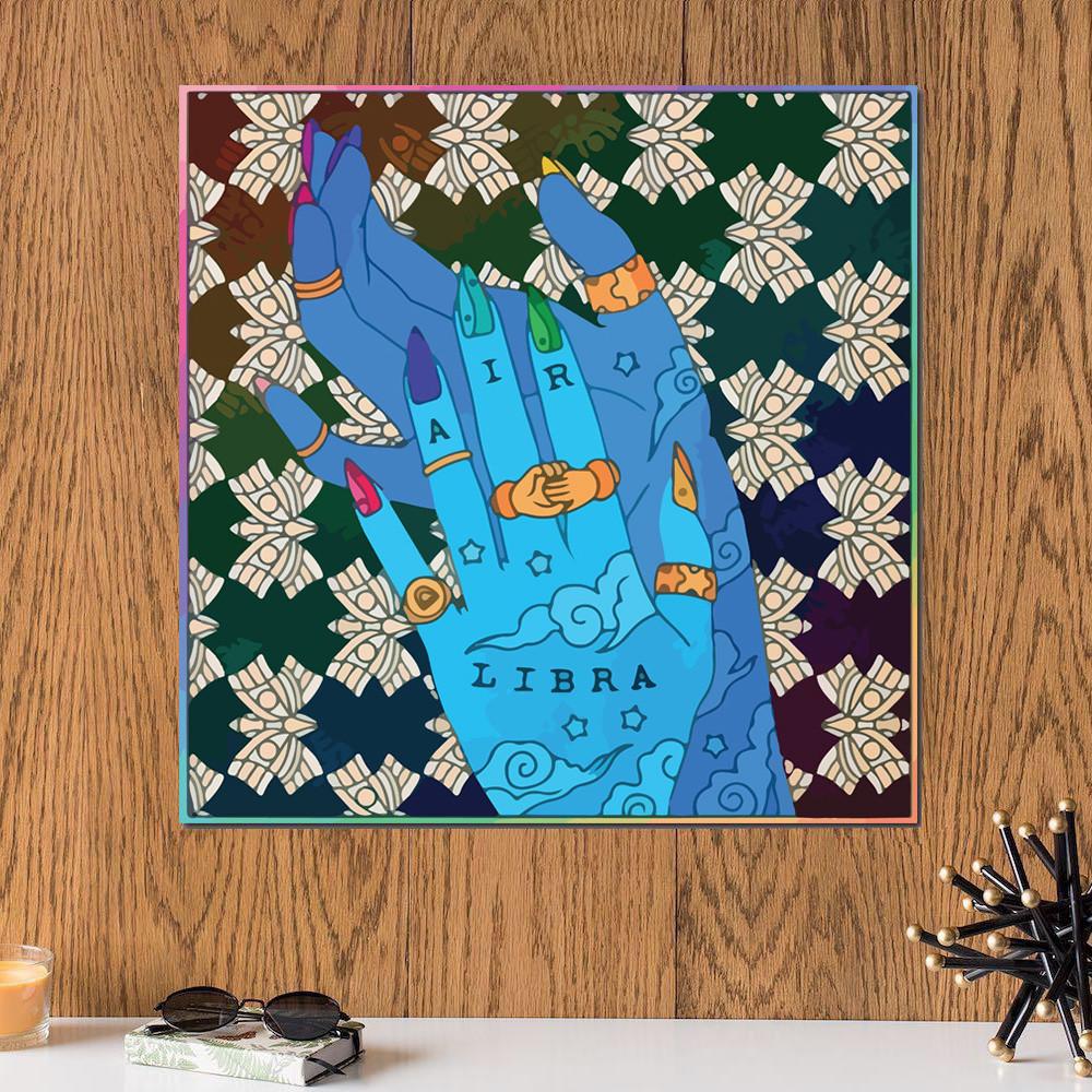 لوحة برج الميزان خشب ام دي اف مقاس 30x30 سنتيمتر