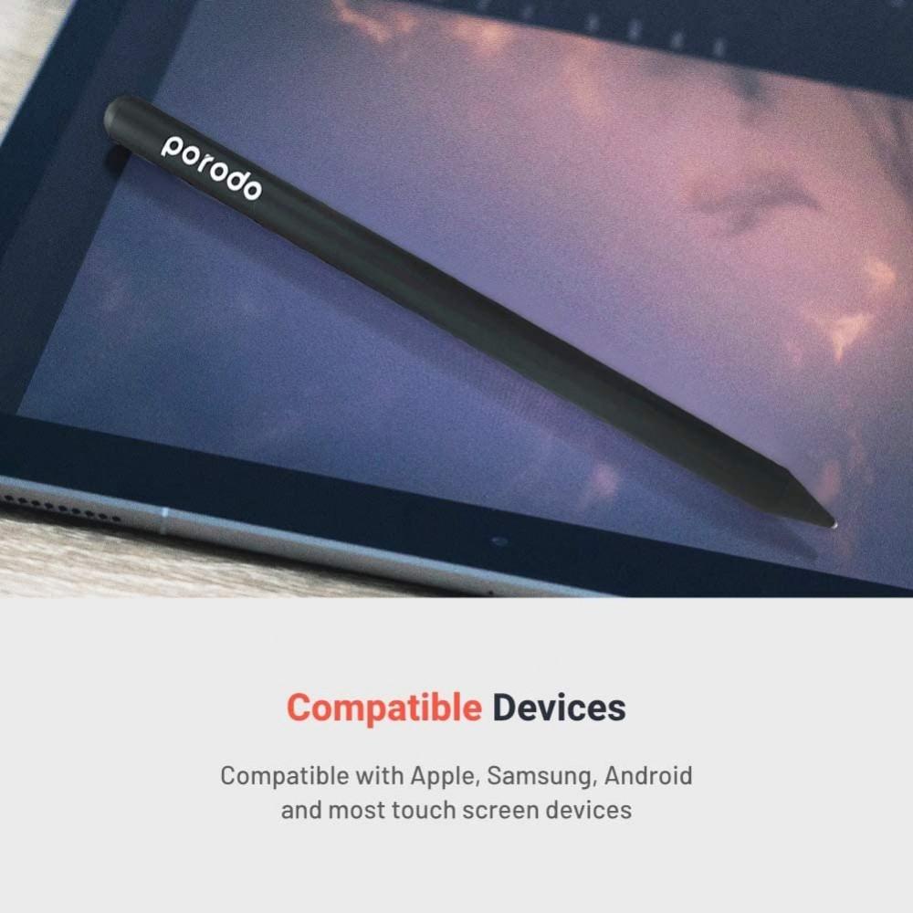 قلم Porodo لأجهزة الايفون والايباد والاندرويد - اسود من برودو