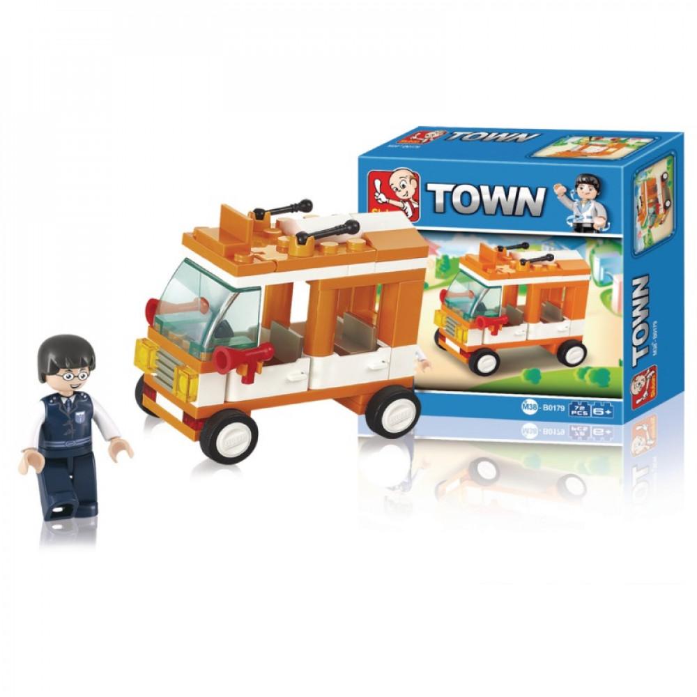 Sluban, Toys, سلوبان, قطع تركيب سيارة, العاب