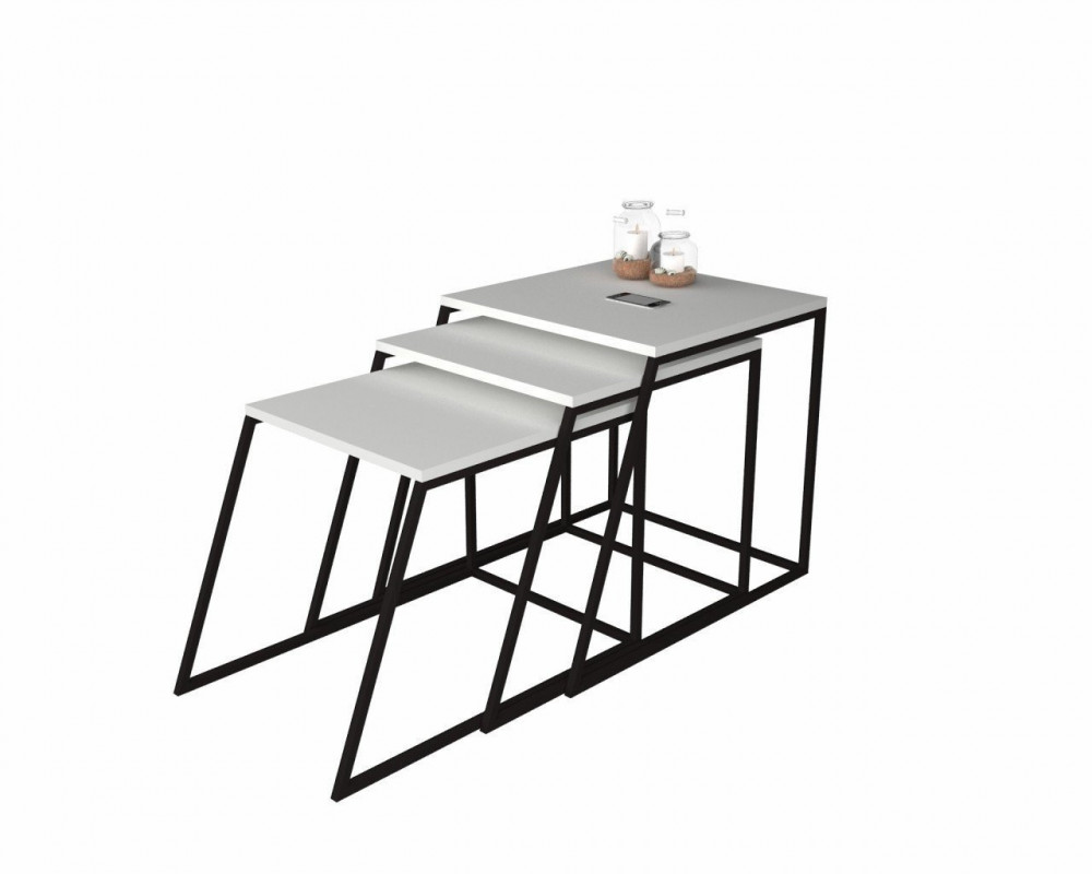 مواسم طقم طاولات مكون من 3 قطع عملية مزينة بالتحف والأنتيكات