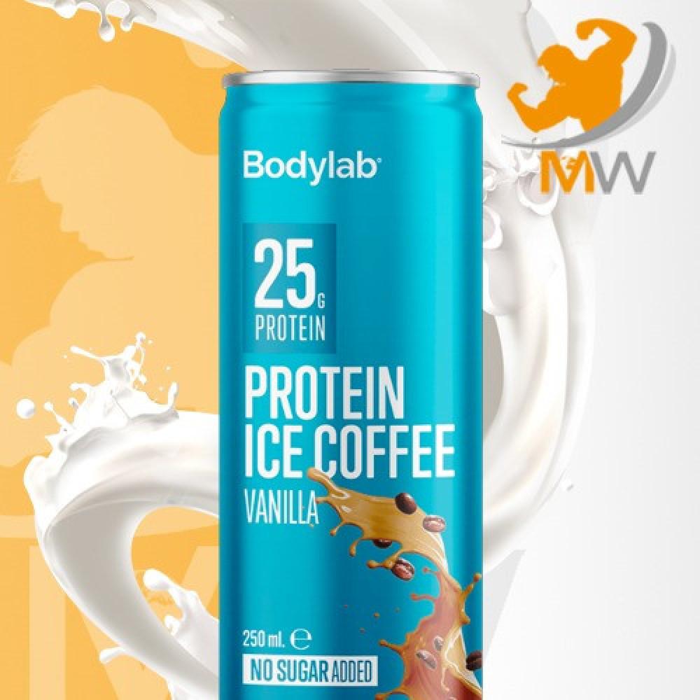 عالم العضلات مكملات غذائية بروتين مشروب بودي لاب كوفي فانيلا مثلجة