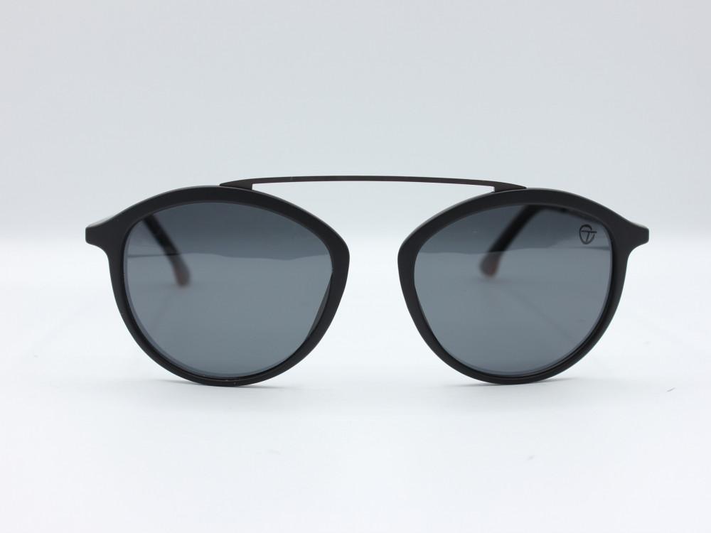نظارة شمسية تصميم العدسه دائري من ماركة TAGO لون اسود رجالي تصميم فريد