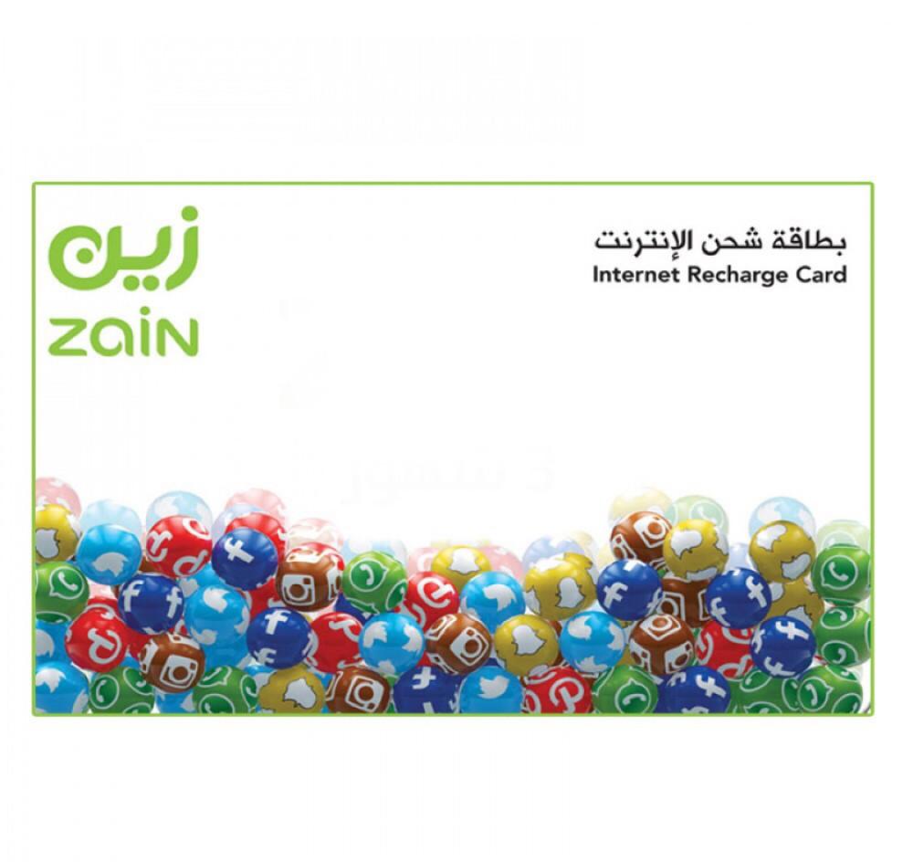 بطاقة بيانات زين 100 قيقا ثلاثة شهور - متجر البطاقات البيضاء