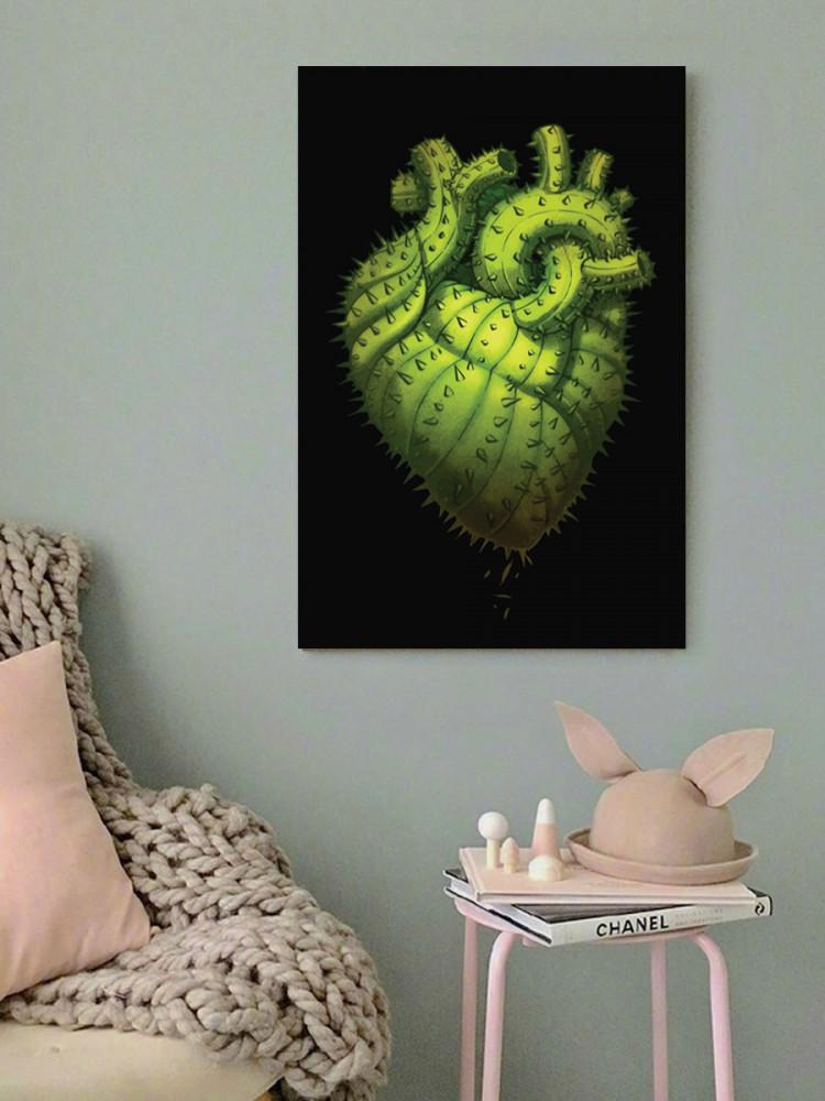 لوحة القلب خشب ام دي اف مقاس 40x60 سنتيمتر