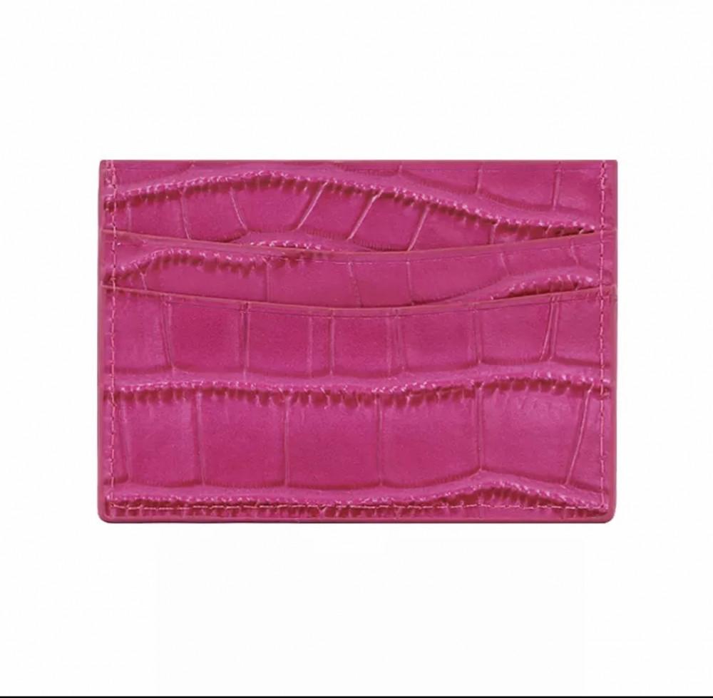 محفظة بطاقات وردي