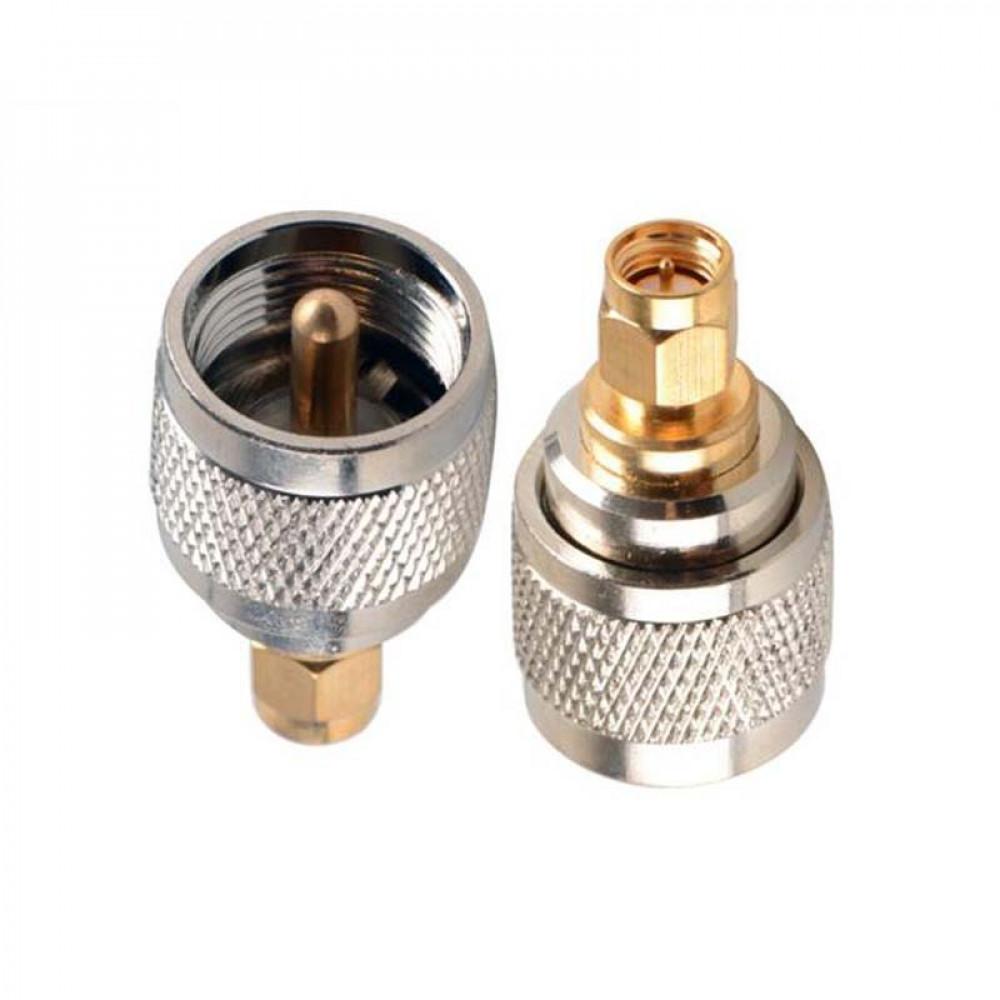 عدد 1 محول من SMA ذكر الى UHF ذكر للاستخدام مع الكيبل المحوري