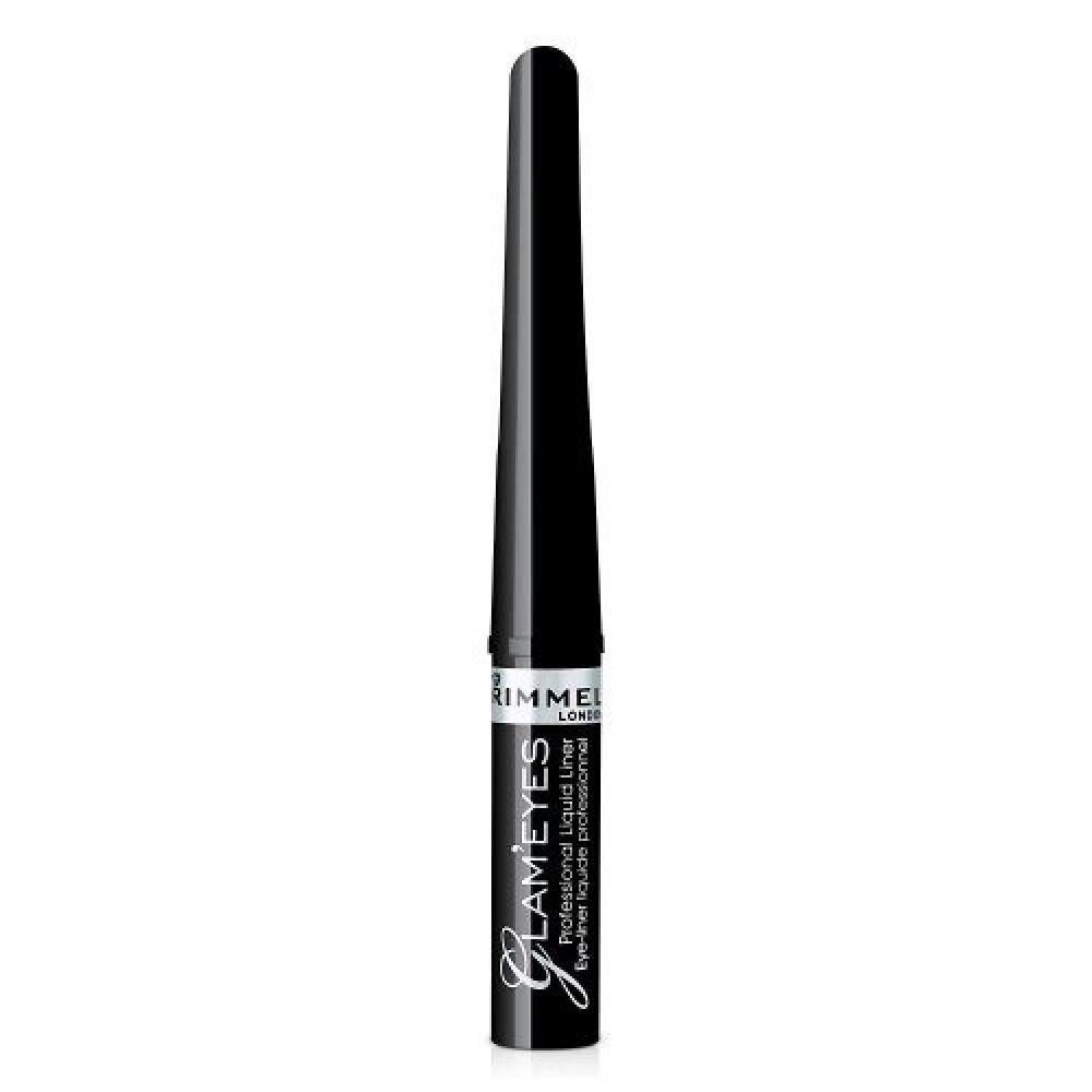 Rimmel Glam eyes Liner No 001 Black Glamour 3-5ml متجر خبير العطور