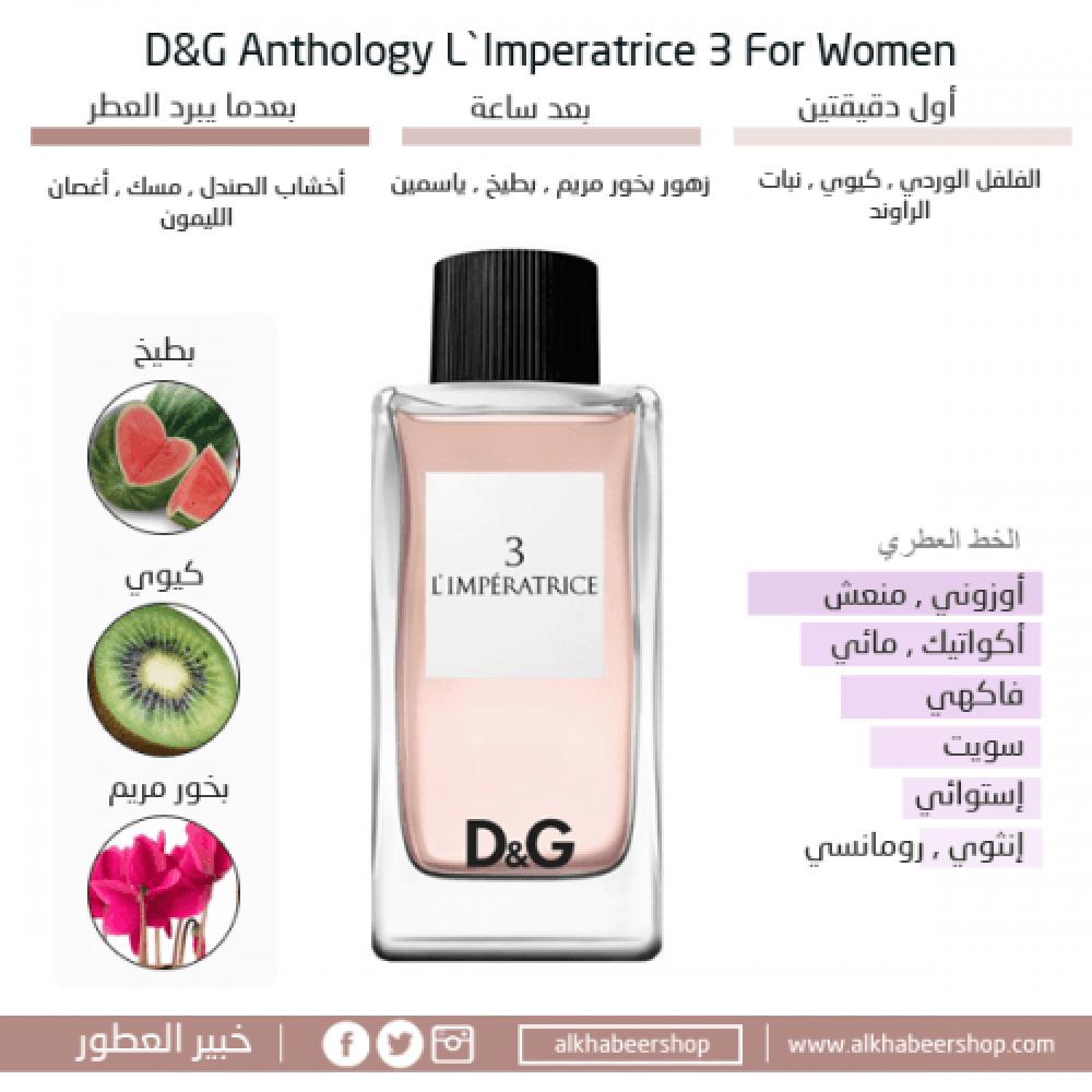 Dolce Gabbana Anthology Limperatrice 3 خبير العطور