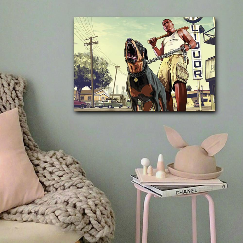 لوحة جراند ثيفت اوتو خشب ام دي اف مقاس 40x60 سنتيمتر