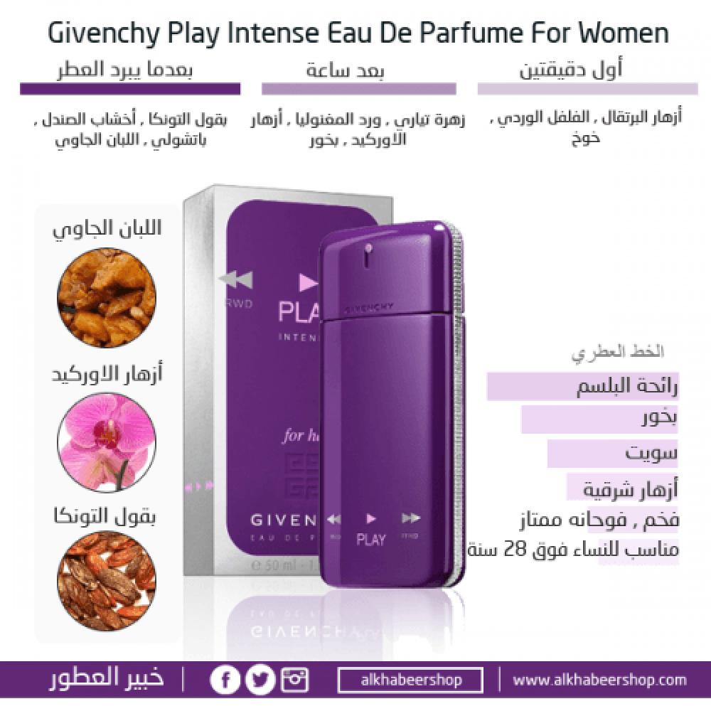 Givenchy Play for Her Intense Eau de Parfum 75ml متجر خبير العطور
