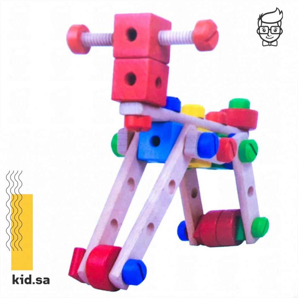 لعبة خشبية لتعليم الطفل مهارات التركيب