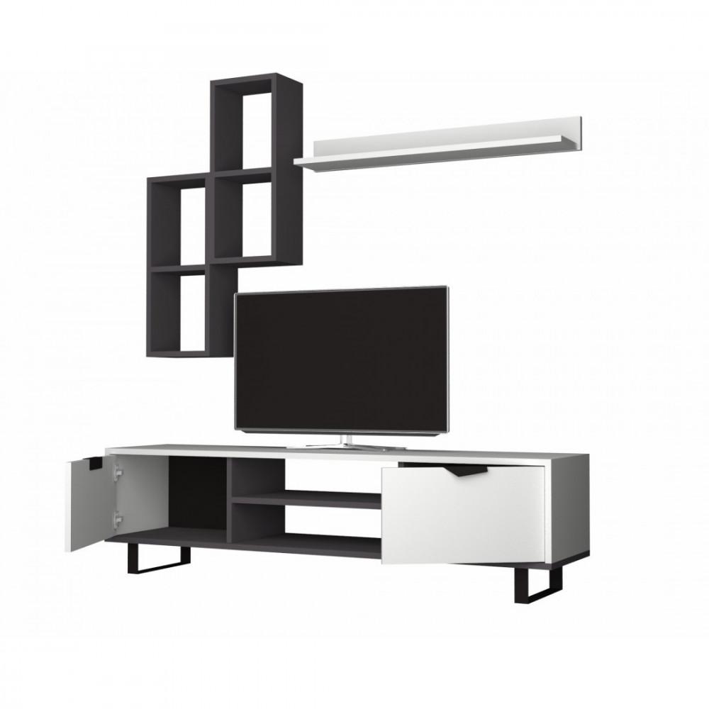 طاولة تلفزيون رمادي