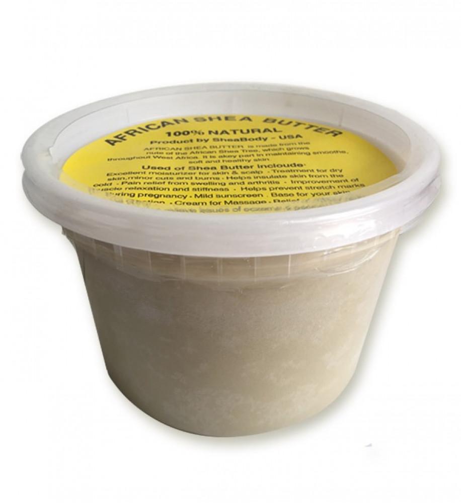 زبدة الشيا العاجية علبة وسط بوزن 420 جرام خام طبيعية بدون إضافات