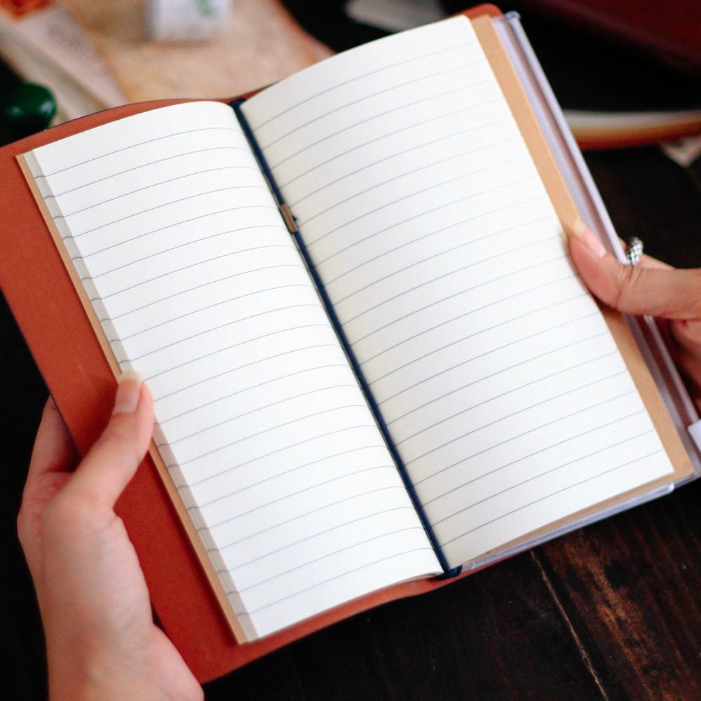 دفتر جلد لون بني مذكرة مذكرات دفاتر جلد أجندة جلد متجر قرطاسية هدية