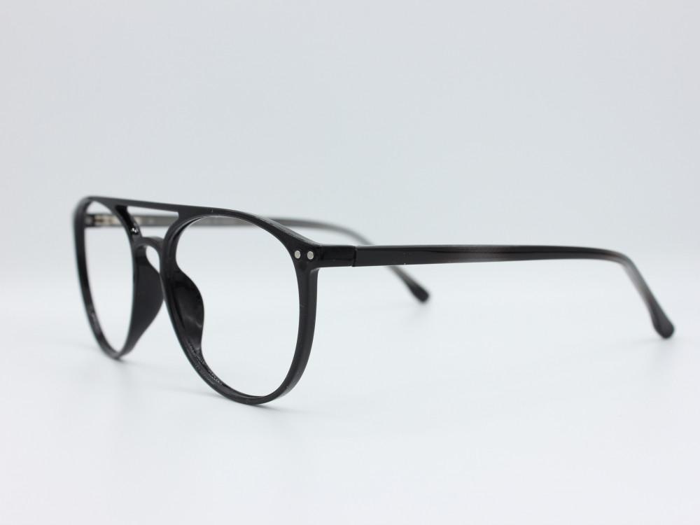 نظارة طبية من ماركة T دائرية مع عدسات بحماية لون الاطار اسود 108