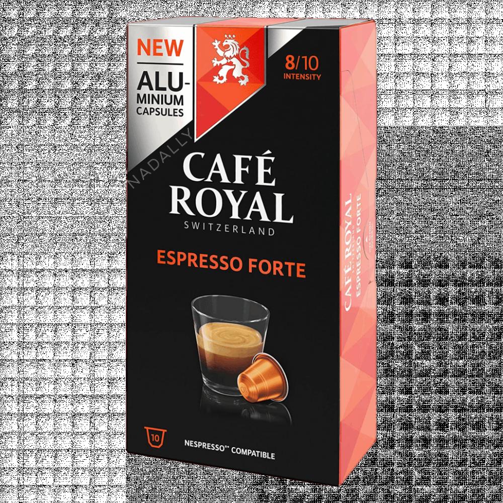 Cafe Royal قهوة كافي رويال اسبريسو فورتي كبسولات نسبريسو الأصلية Nespr