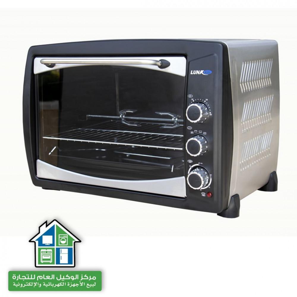 فرن كهربائي لطهي الطعام من لونا 50 لتر   اسود LEO-50RL