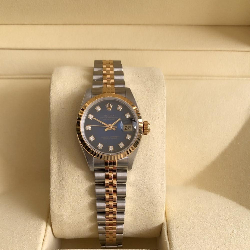 ساعة رولكس ديت جست الأصلية الثمينة مستخدمة 69173