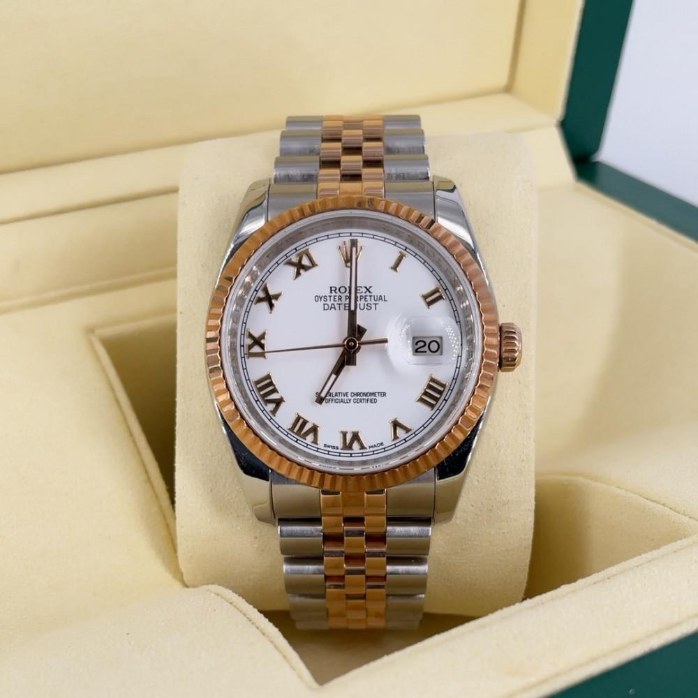 ساعة رولكس ديت جست الأصلية الثمينة مستخدمة 116232
