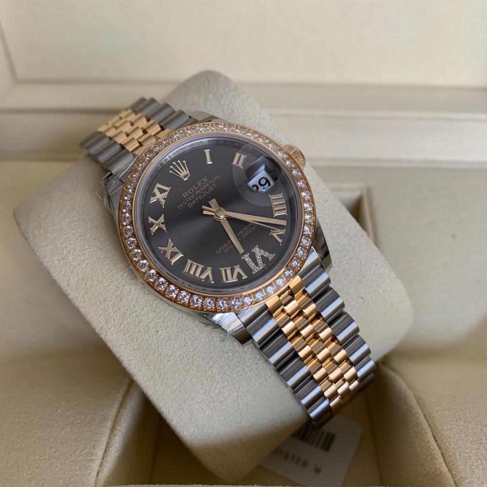 ساعة رولكس ديت جست الأصلية الثمينة جديدة تماما 278383