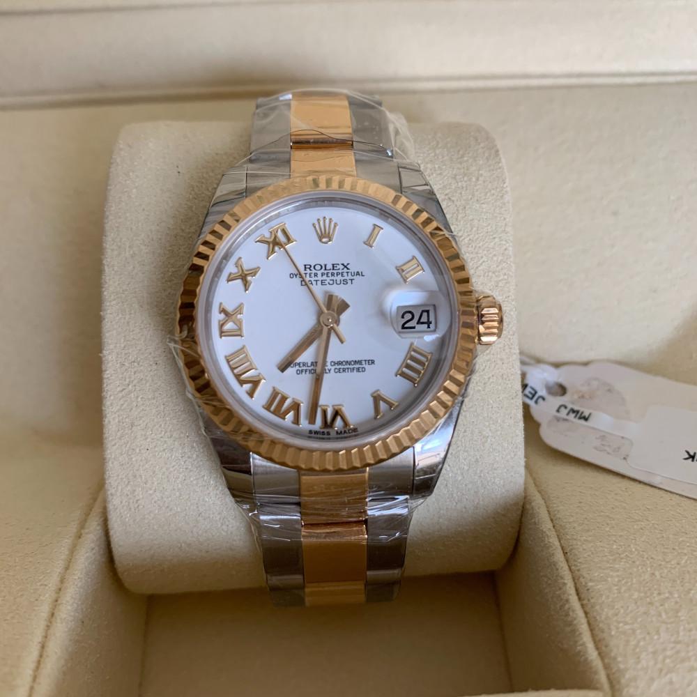 ساعة رولكس ديت جست الأصلية الثمينة جديدة تماما 178273