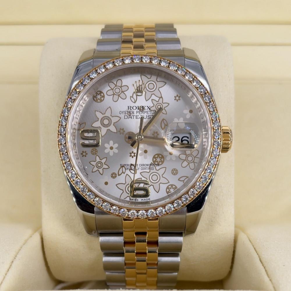 ساعة rolex ديت جست الأصلية الثمينة مستخدمة 116243